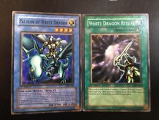 Paladin of White Dragon SKE-024 and Ritual Card SKE-025 (Both 1st Edition)