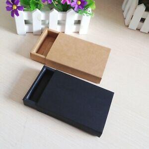 24 Pieces Kraft Drawer Box Jewelry Cardboard Display Box Packaging Cardboard Box