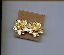 KENNETH LANE  GOLD DOGWOOD EARRINGS