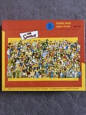 """""""The Simpsons"""" double sided jigsaw puzzle 24 x 18 ins 550 piece Good Condition"""