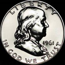 RARER DATE 1961 GEM-PR++++  50C FRANKLIN PROOF HALF DOLLAR GEM-PR++++ PR++++  #8