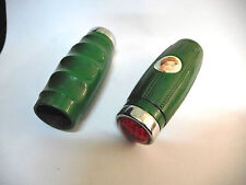 Vintage Bicycle Handlebars Grips T.K.B  GREEN  with reflector NOS 1960s