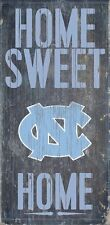 "NORTH CAROLINA TAR HEELS HOME SWEET HOME WOOD SIGN and ROPE 12"" X 6"" MAN CAVE!"