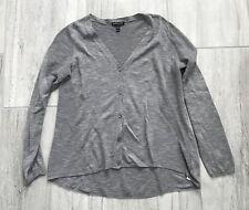 Eileen Fisher Gray Cardigan Sweater M