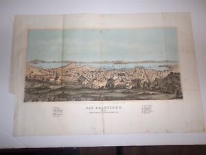 """VIEW OF SAN FRANCISCO. PRINTED 1857. COLOR LITHOGRAPH, 19"""" X 12.25"""""""
