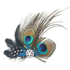 Bridal Party Vintage Peacock Feather Wedding Hair Clip Hair Accessory Hairpin