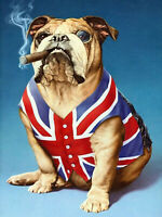 Full drill Diamond Painting Flag Bulldog Cartoon Handicraft Embroidery Art 6950H