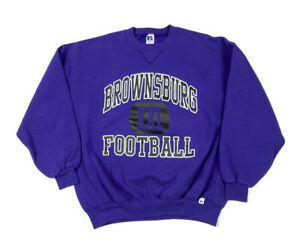 VTG 90s Indiana High School Brownsburg Football Sweatshirt USA Made 50/50 2XL