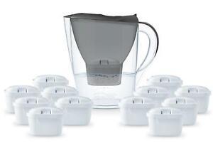 Aqualogis 2.6L Water Filter Jug + 12 Month Cartridges Pack For Brita Maxtra Plus
