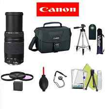 CANON EF 75-300mm LENS + CASE + REMOTE+TRIPOD FOR CANON EOS REBEL 7D 6D T5 T3 T4