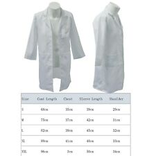 ad413595820 Kids Boy Girl White Lab Coat Doctor Scientist School Fancy Dress Childrens  Child XL 11-