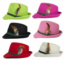Schuhmacher Damenhut aus Wolle mit Federn vers. Farben Größen Trachten Hut NEU