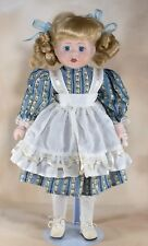 """Collector's Porcelain Doll 16"""" Blue Eyes Blond Hair"""