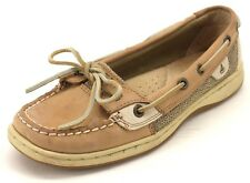 Sperry Top-Sider Women's Angelfish Linen Oat Leather Boat Shoes US 6.5 M 9102047