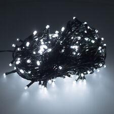 10m 100 LED Lichterkette Beleuchtung für Weihnachtsbaum Christbaum grün kaltweiß