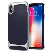 Express iPhone X Case Spigen Neo Hybrid Premium Bumper Cover for Apple Satin Silver