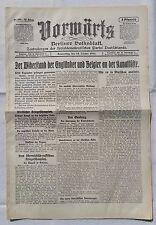 VORWÄRTS (22. Oktober 1914): Widerstand der Engländer und Belgier an Kanalküste