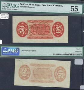 FR1343-46spwmb 50¢ 3RD ISSUE FRACTIONAL CURRENCY PROOF PMG 55 ABOUT UNC BT2540