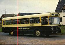Leyland Tiger Cub Green Bus Service Bednall Staffordshire 1980s postcard