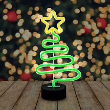 Festive Neon Christmas Tree Xmas Light Decoration