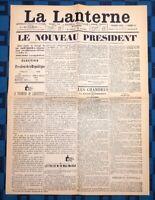 La Une Du Journal La Lanterne 1Er Février 1879 Élection De Jules Grévy