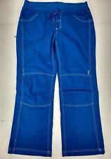 Prana Breathe Womens Pants Large Blue Hiking Climbing Outdoor Organic Cotton
