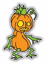 """Monster Pumpkin Spooky Cartoon Car Bumper Sticker Decal 3"""" x 5"""""""