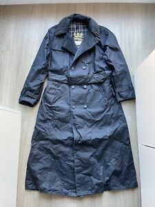 Deadstock Vintage A605 Barbour Trench Coat + Bushman Waxed Hat - C 36 - FREE P&P