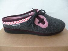 Frankenwald Ladies Slippers House Shoes, Grey/Pink, For Loose Insoles, Felt New