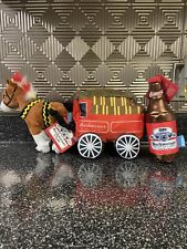 Bark Box x Budweiser Beer Dog Toy Barkweiser Bottle and Clyde Horse Wagon Squeak