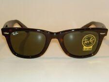 New RAY BAN Original WAYFARER Sunglasses Tortoise  RB 2140F 902 G-15 Lenses 52mm