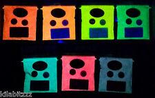 Glow in the dark + UV reactive fluorescent pigment powder 25g - ALL 7 colours