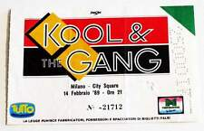 KOOL & THE GANG billet Collector ticket concert ITALY Milano 14/02/1989