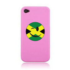 WINKING SMILEY FACE JAMAICAN FLAG iPHONE CASE COVER STICKER ON A 3G, 4S AND 5