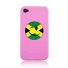 Clignotante SMILEY face jamaican drapeau iPHONE case cover autocollant sur un 3G, 4S 5 et