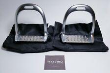 """Lorenzini Original Aluminum / Titanium Stirrups, Silver, 4 3/4"""" Footbed"""