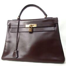 Authentic HERMES Kelly 32 Handbag Leather[Used]