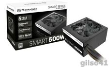 Smart 500W 80+ White Certified PSU, Continuous Power with 120mm Ultra Quiet Cool