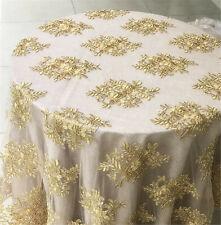 Bukhotta tela floral en violeta y oro-Doble Ancho 280cm de ancho