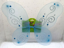 "14""x 15"" Fairy Wings Blue Gem Dress Up Ailes Pretend Costume"