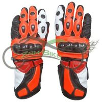 Repsol MotoGp Leather Motorbike Leather Gloves Motorcycle Gloves