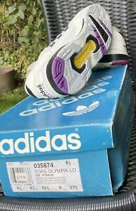 BNIB Vintage 1992 Adidas Torsion Olympia 8.5 NOS OG BOX 90s Basketball Sneakers
