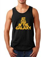 Tank Top Best Dad in the Galaxy Shirt Fathers Day Daddy Star Wars Birthday Gift