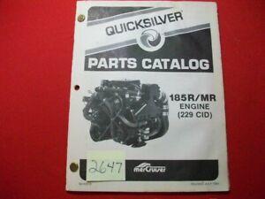 1984 MERCRUISER QUICKSILVER PARTS CATALOG #90-43078 COVERS 185R/MR ENGINE VGCFA