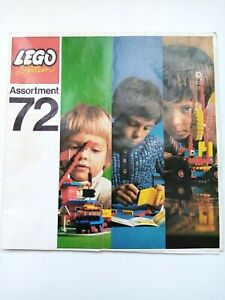 Vintage Lego Catalogue Booklet 1972 - 16 Pages - Assortment 72