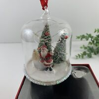 Things Remembered Santa Light Up Miniature Snow Globe Christmas Ornament New