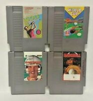 Tecmo Baseball Soccer Cup Elway Golf -  Nintendo NES Authentic Game Tested Works