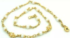 18k Judith Ripka Diamond & Pearl Women's Gold Necklace