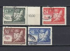 DR, Generalgouvernement, besetzung, 1940, Mi.59-62, used