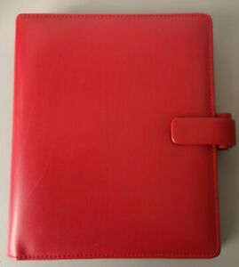 Filofax Metropol Personal Organiser Red (A5) Faux Leather